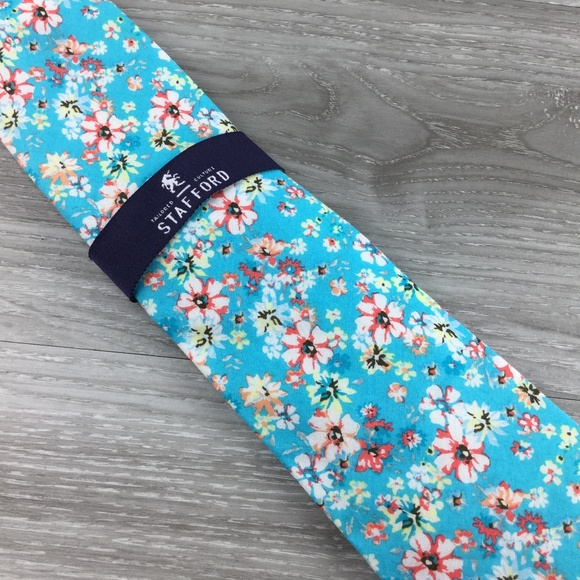 Stafford Other - Stafford Blue Floral Pattern Tie